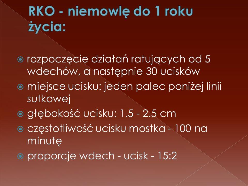 RKO - niemowlę do 1 roku życia: