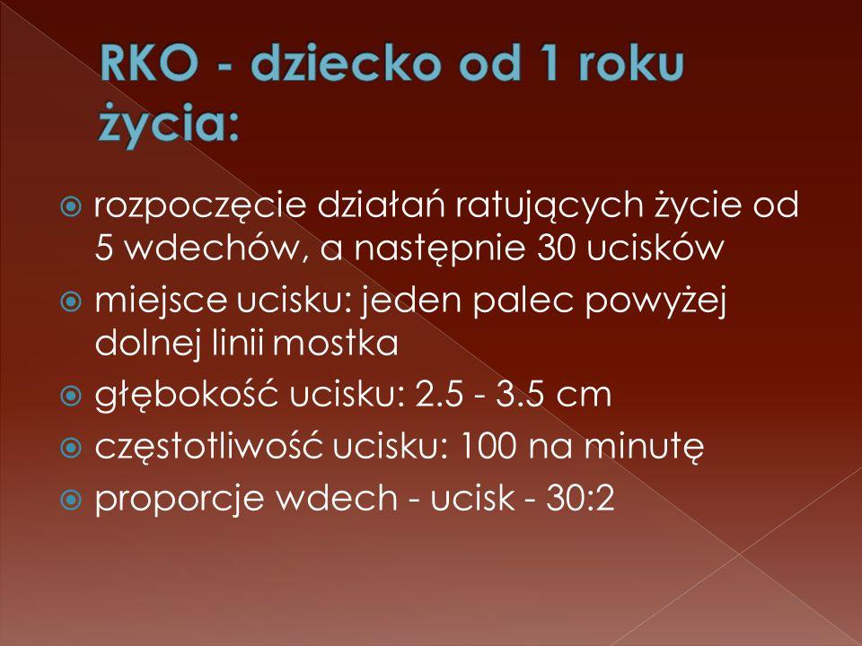 RKO - dziecko od 1 roku życia: