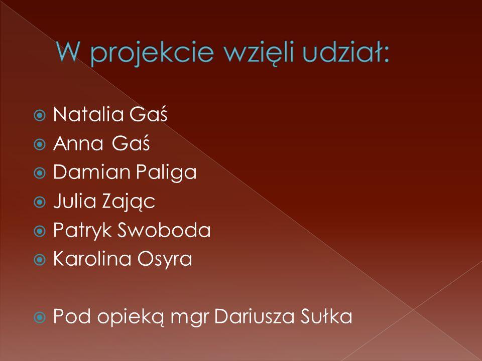 W projekcie wzięli udział: