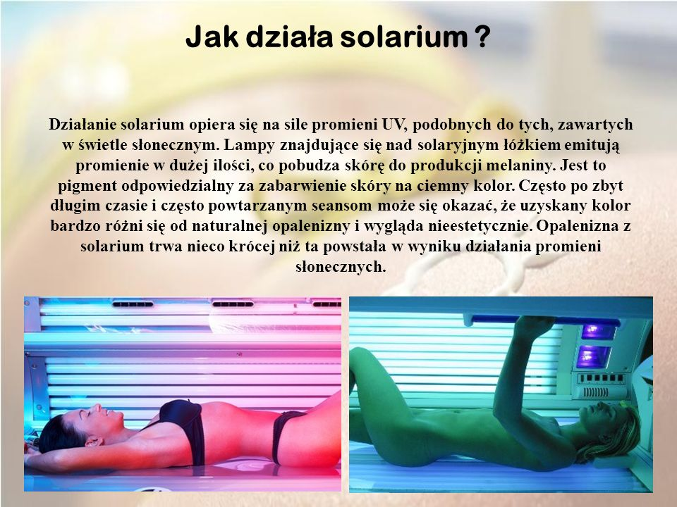 Jak działa solarium