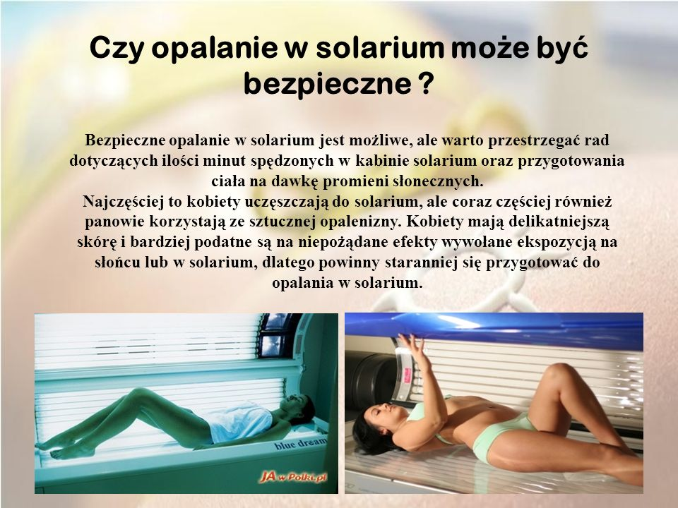 Czy opalanie w solarium może być bezpieczne