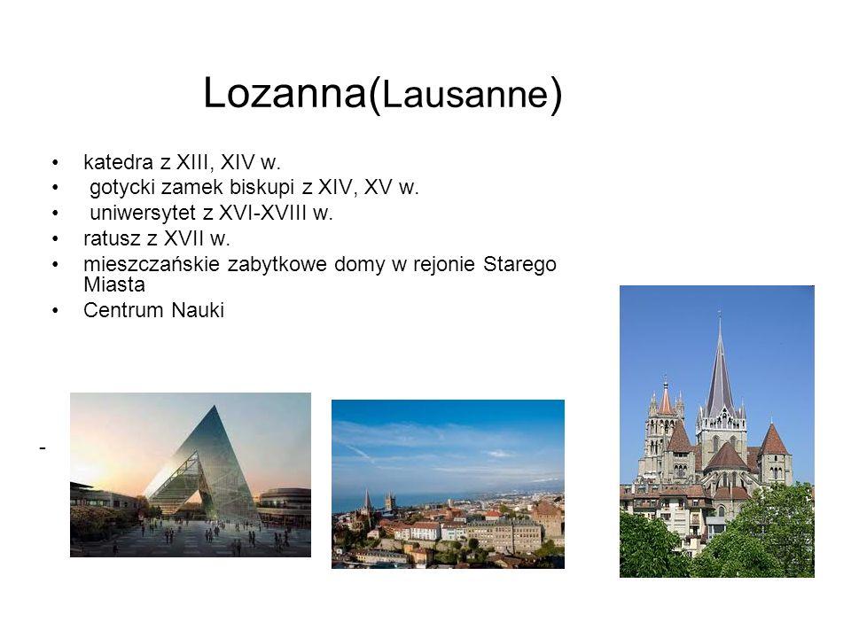 Lozanna(Lausanne) katedra z XIII, XIV w.
