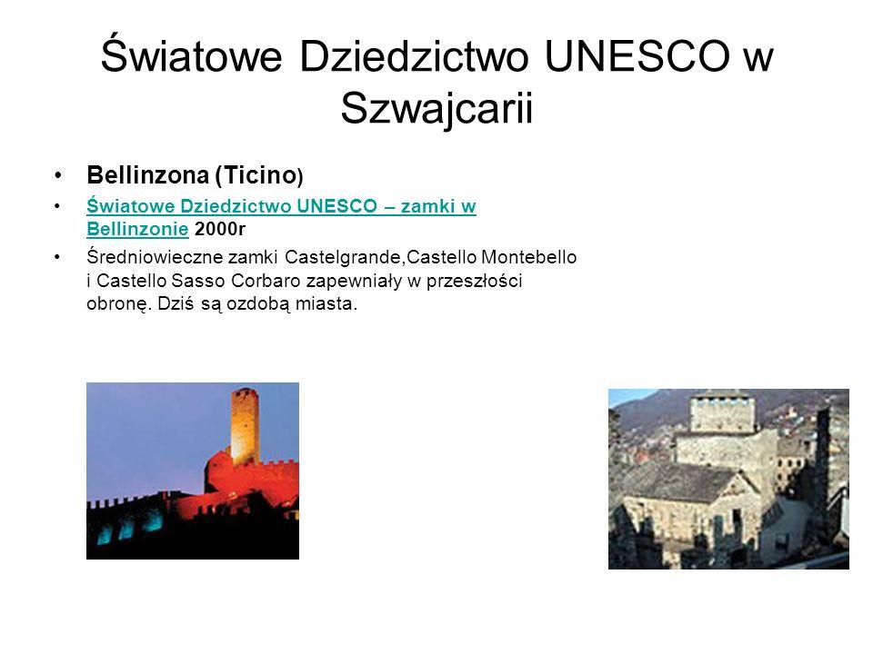 Światowe Dziedzictwo UNESCO w Szwajcarii