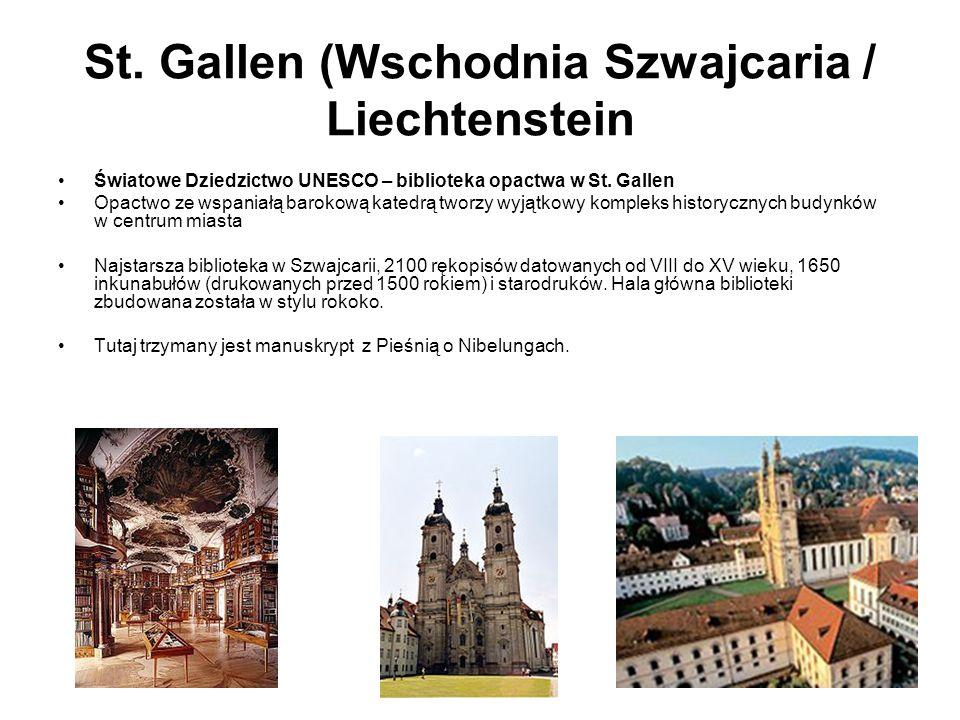 St. Gallen (Wschodnia Szwajcaria / Liechtenstein
