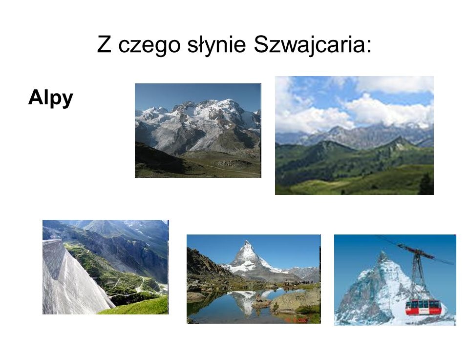 Z czego słynie Szwajcaria: