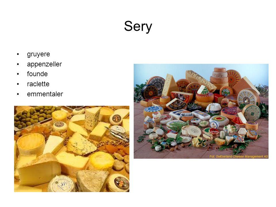 Sery gruyere appenzeller founde raclette emmentaler
