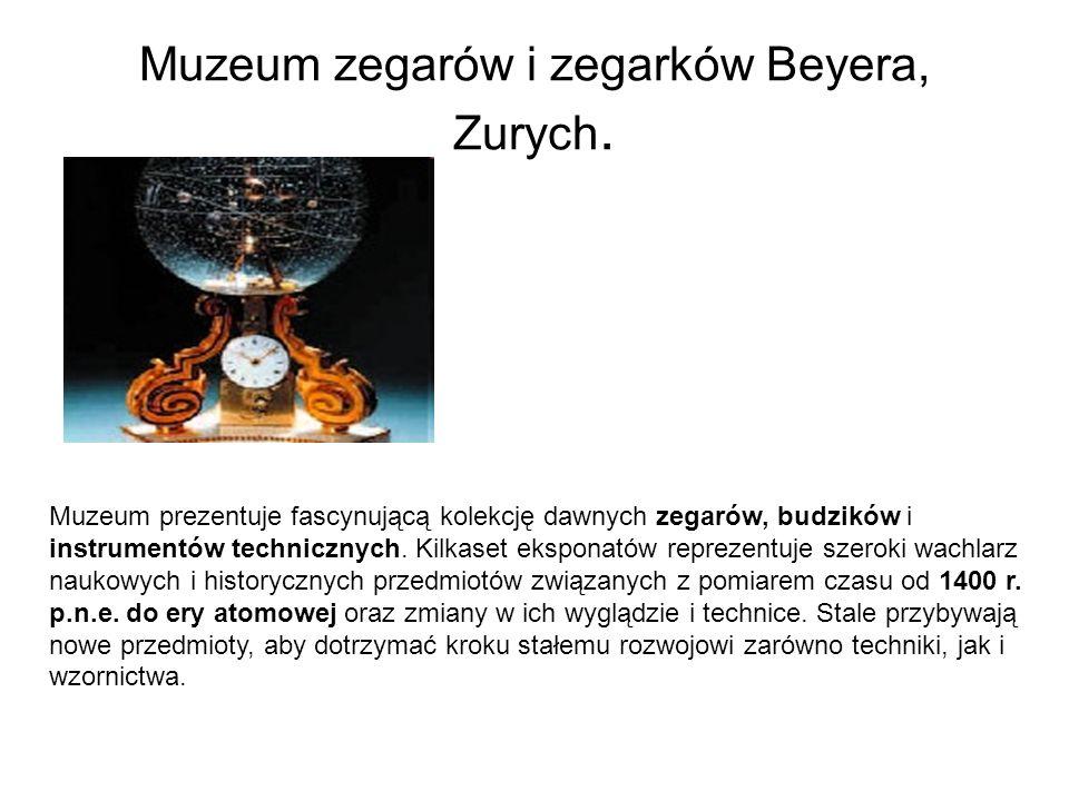 Muzeum zegarów i zegarków Beyera, Zurych.