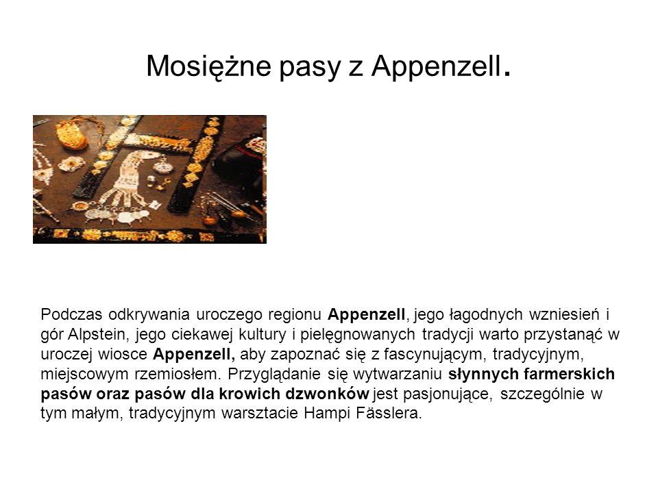 Mosiężne pasy z Appenzell.