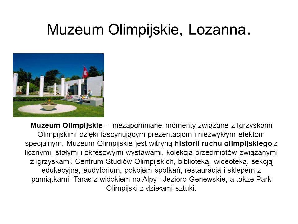Muzeum Olimpijskie, Lozanna.
