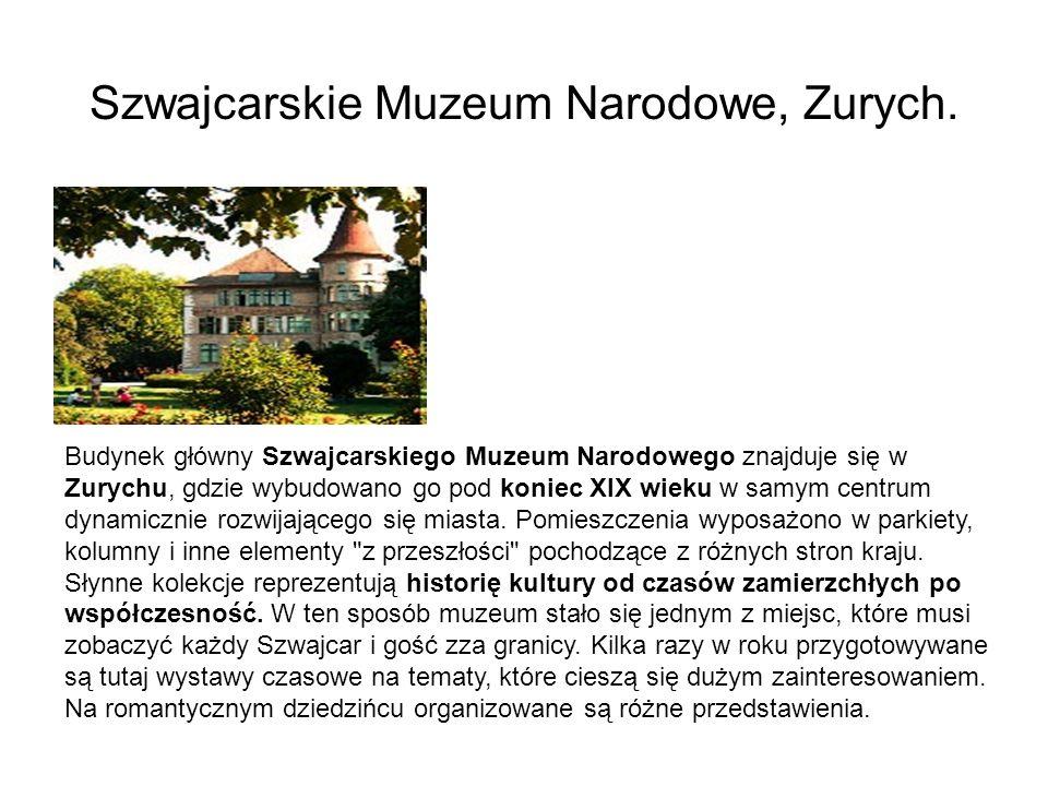Szwajcarskie Muzeum Narodowe, Zurych.