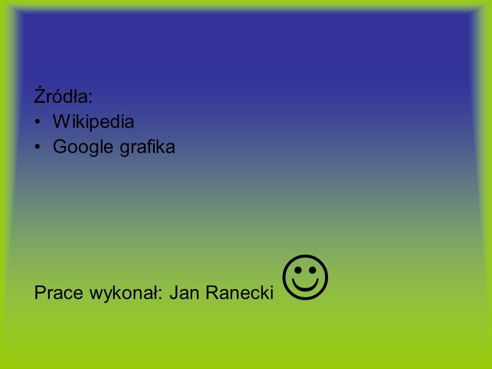 Źródła: Wikipedia Google grafika Prace wykonał: Jan Ranecki 