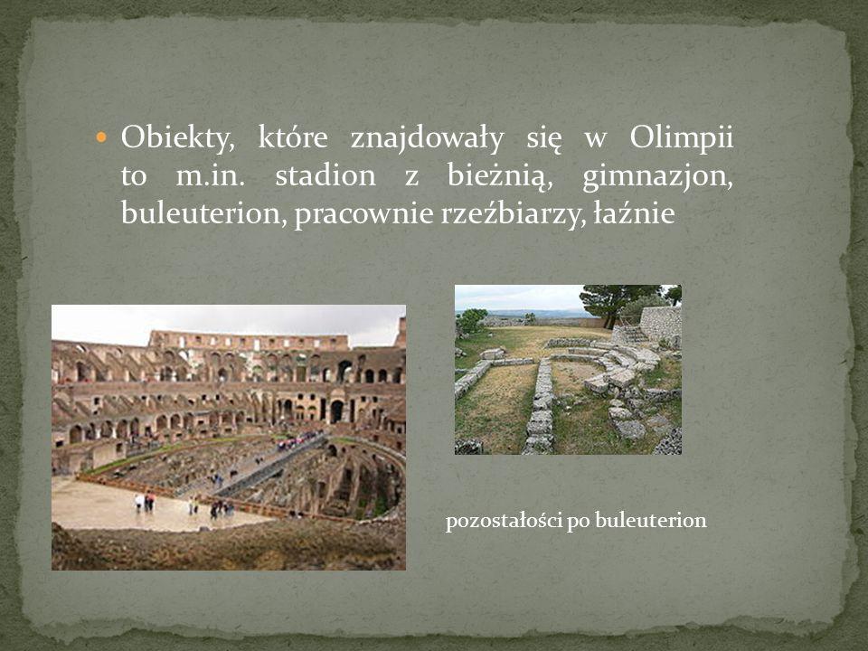 Obiekty, które znajdowały się w Olimpii to m. in