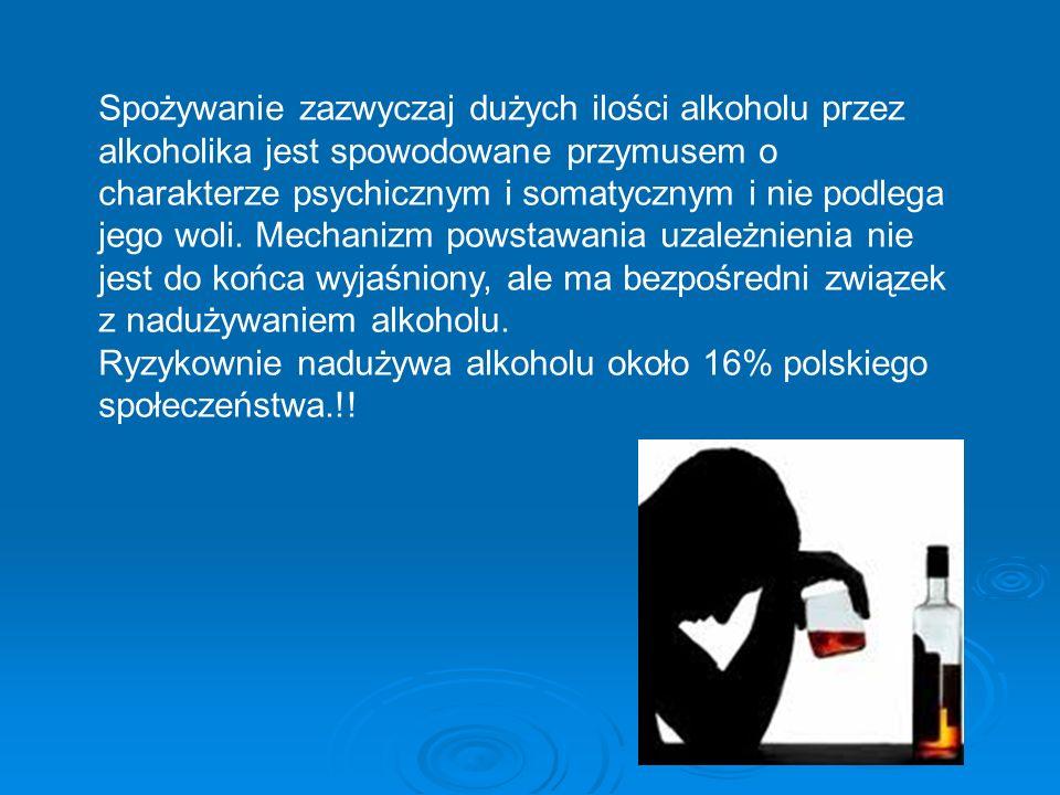 Ryzykownie nadużywa alkoholu około 16% polskiego społeczeństwa.!!