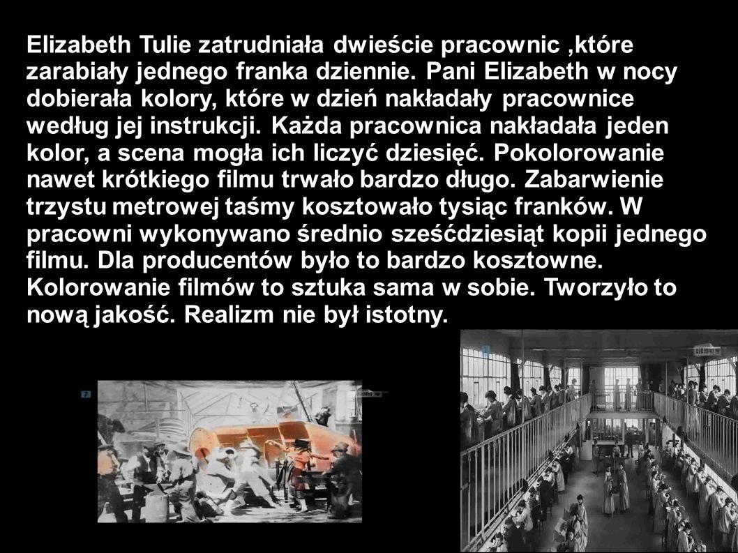 Elizabeth Tulie zatrudniała dwieście pracownic ,które zarabiały jednego franka dziennie.