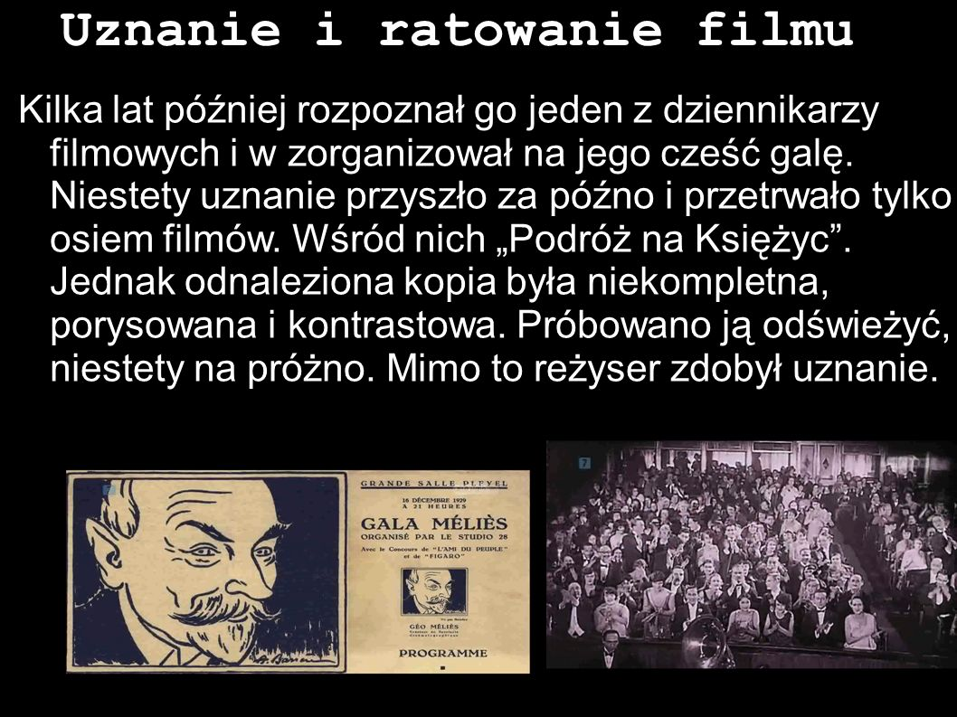 Uznanie i ratowanie filmu