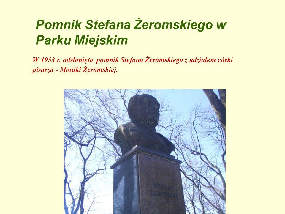 Pomnik Stefana Żeromskiego w Parku Miejskim
