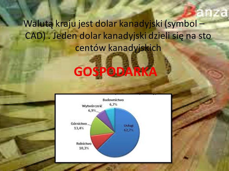 Walutą kraju jest dolar kanadyjski (symbol – CAD)