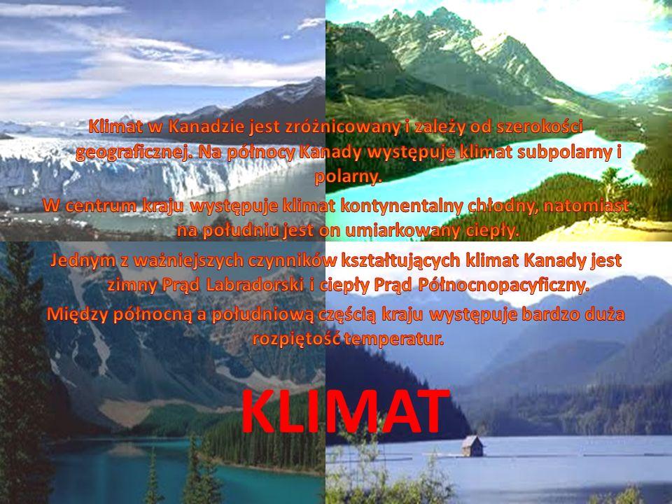 Klimat w Kanadzie jest zróżnicowany i zależy od szerokości geograficznej. Na północy Kanady występuje klimat subpolarny i polarny.