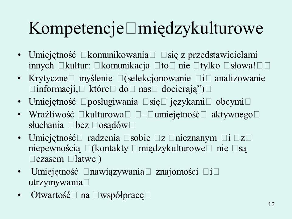 Kompetencje międzykulturowe