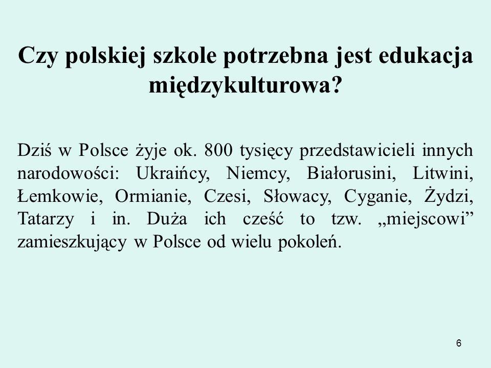 Czy polskiej szkole potrzebna jest edukacja międzykulturowa