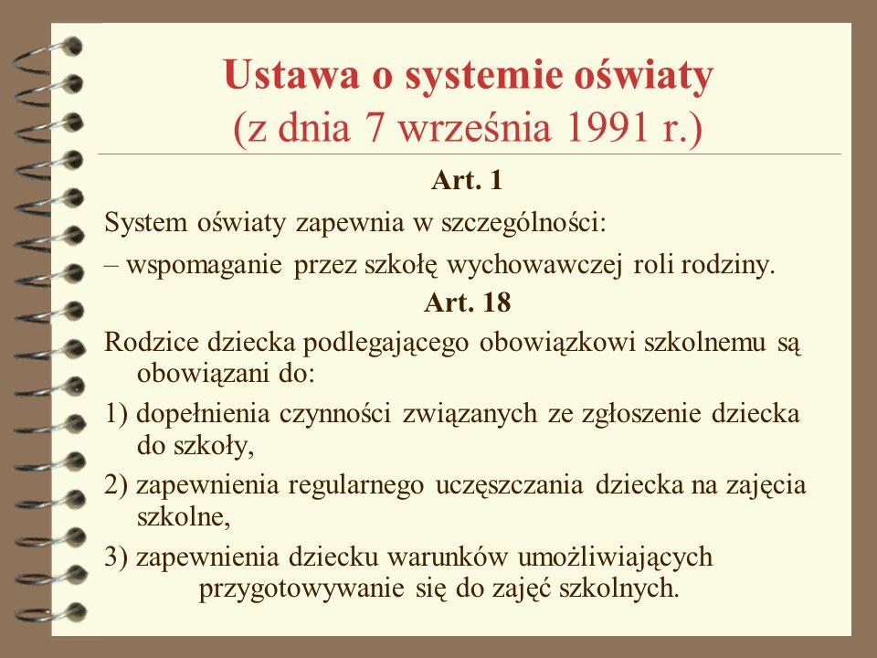 Ustawa o systemie oświaty (z dnia 7 września 1991 r.)