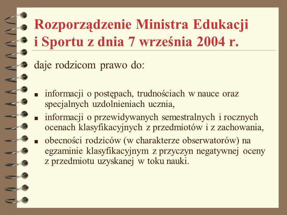 Rozporządzenie Ministra Edukacji i Sportu z dnia 7 września 2004 r.