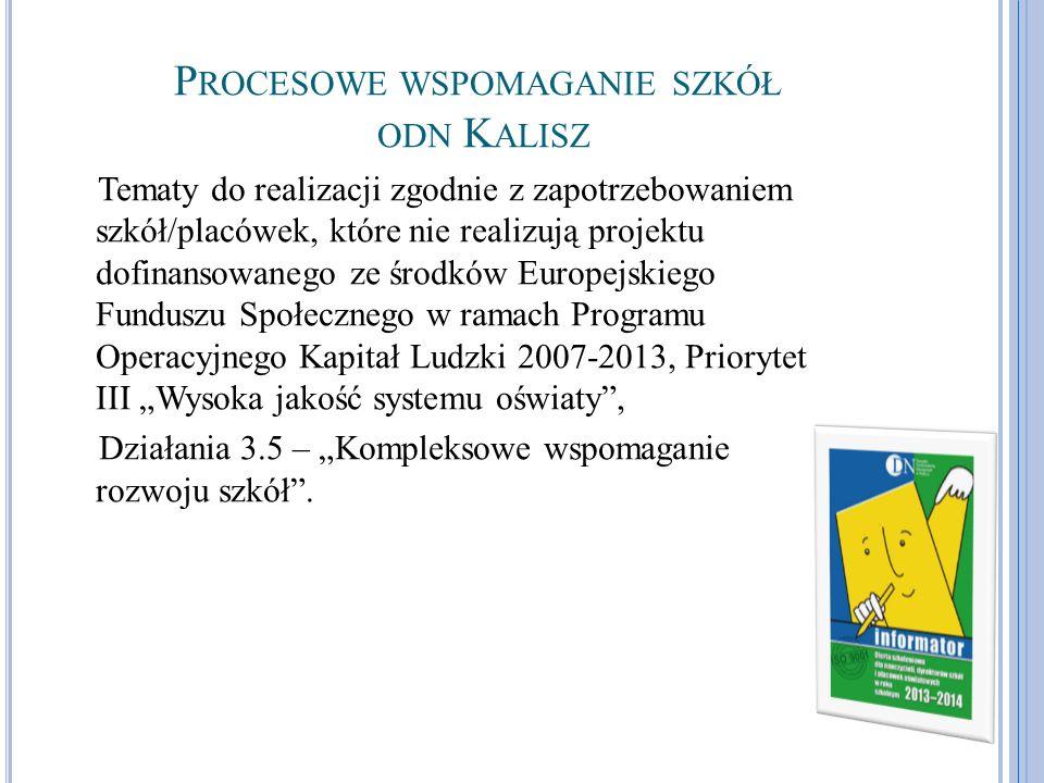 Procesowe wspomaganie szkół odn Kalisz