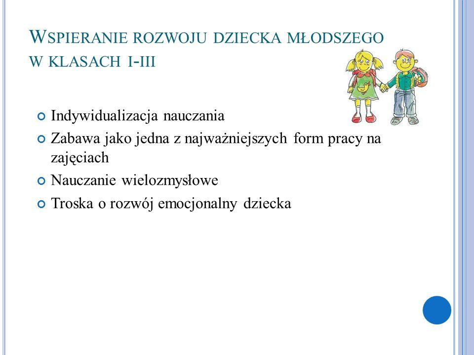 Wspieranie rozwoju dziecka młodszego w klasach i-iii