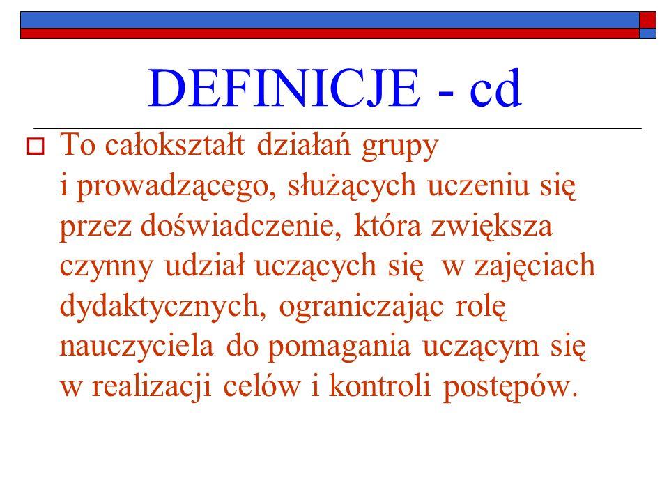 DEFINICJE - cd