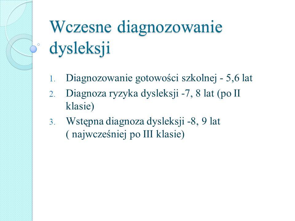 Wczesne diagnozowanie dysleksji