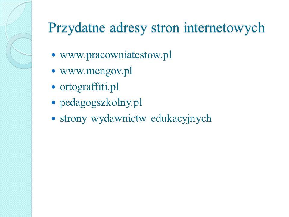 Przydatne adresy stron internetowych