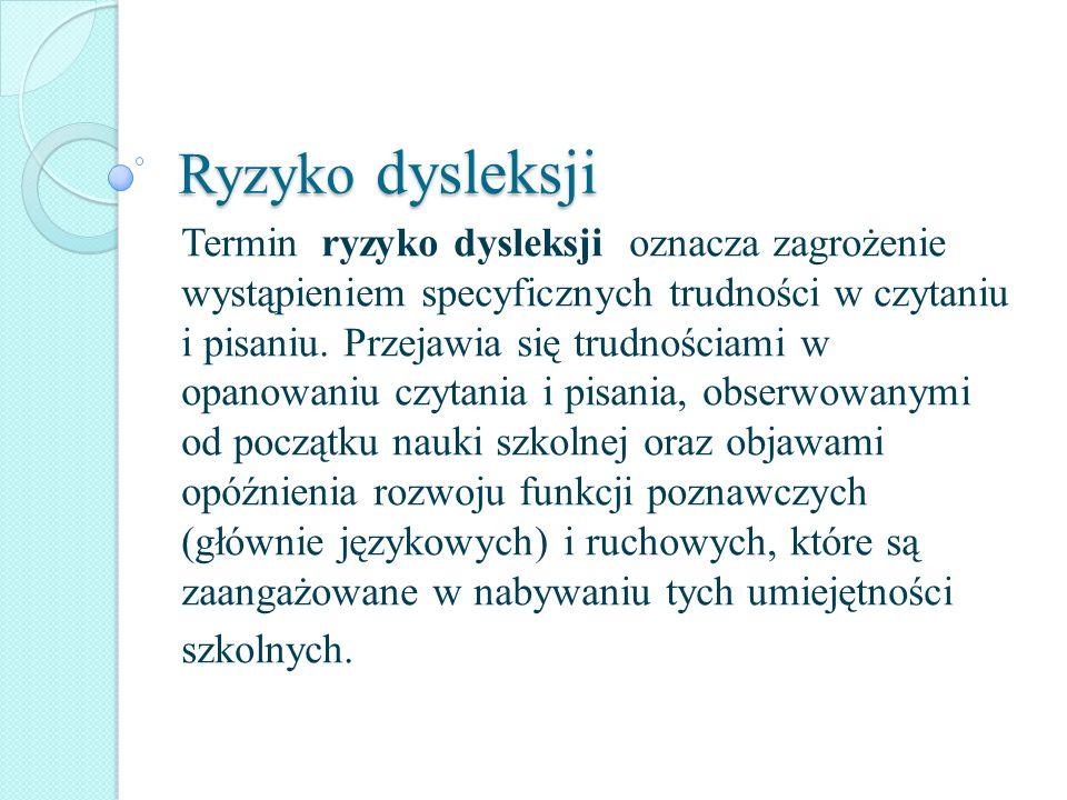Ryzyko dysleksji