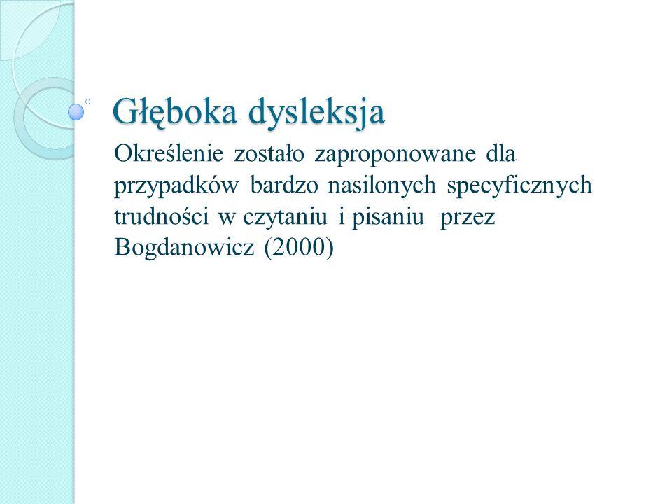 Głęboka dysleksja