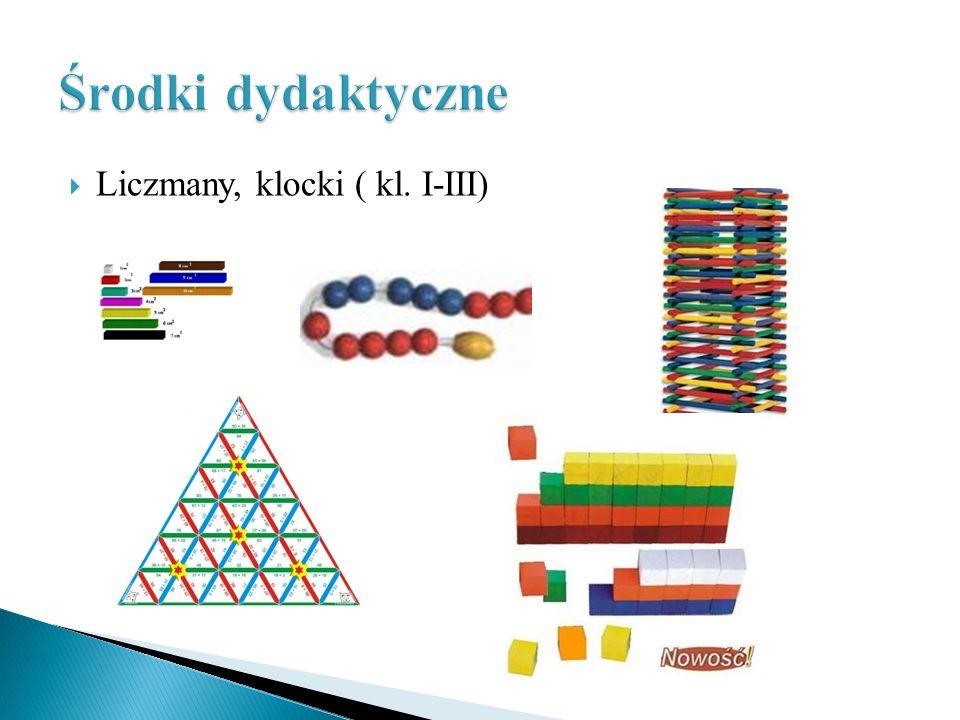 Środki dydaktyczne Liczmany, klocki ( kl. I-III)