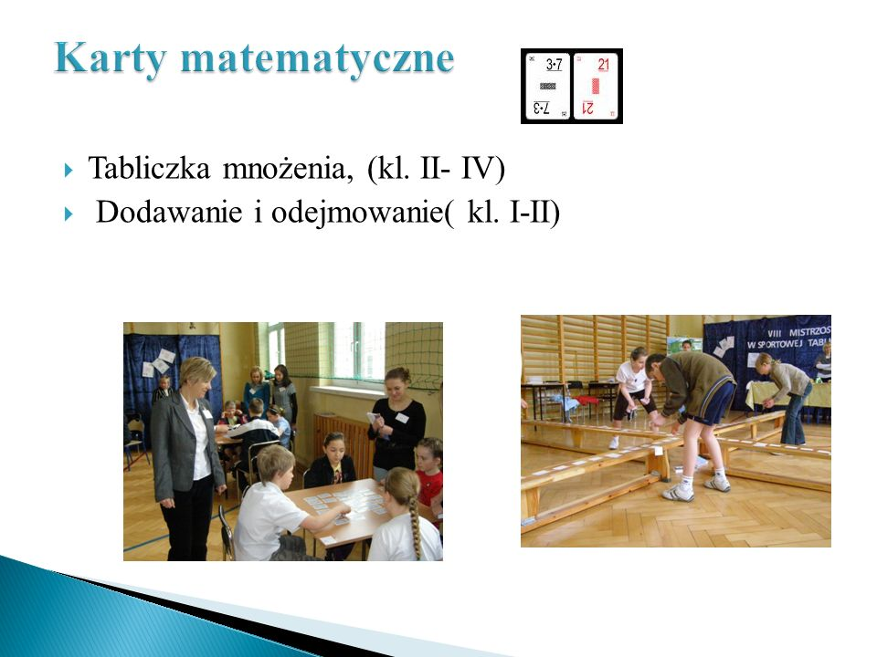 Karty matematyczne Tabliczka mnożenia, (kl. II- IV)
