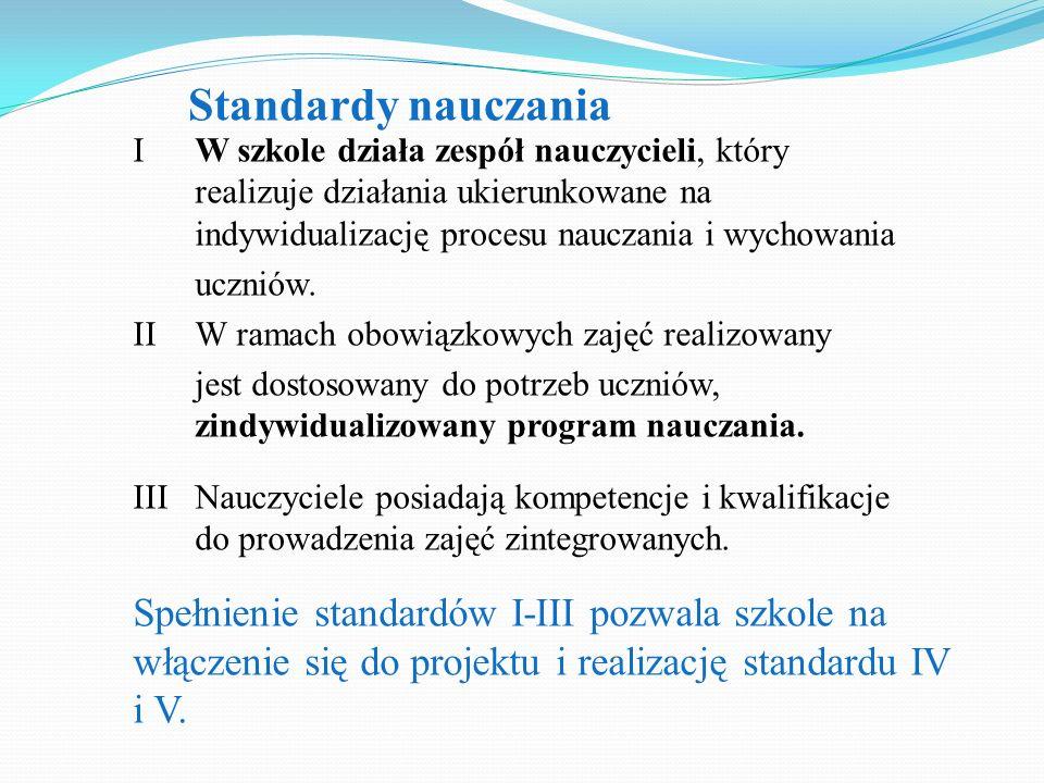 Standardy nauczania
