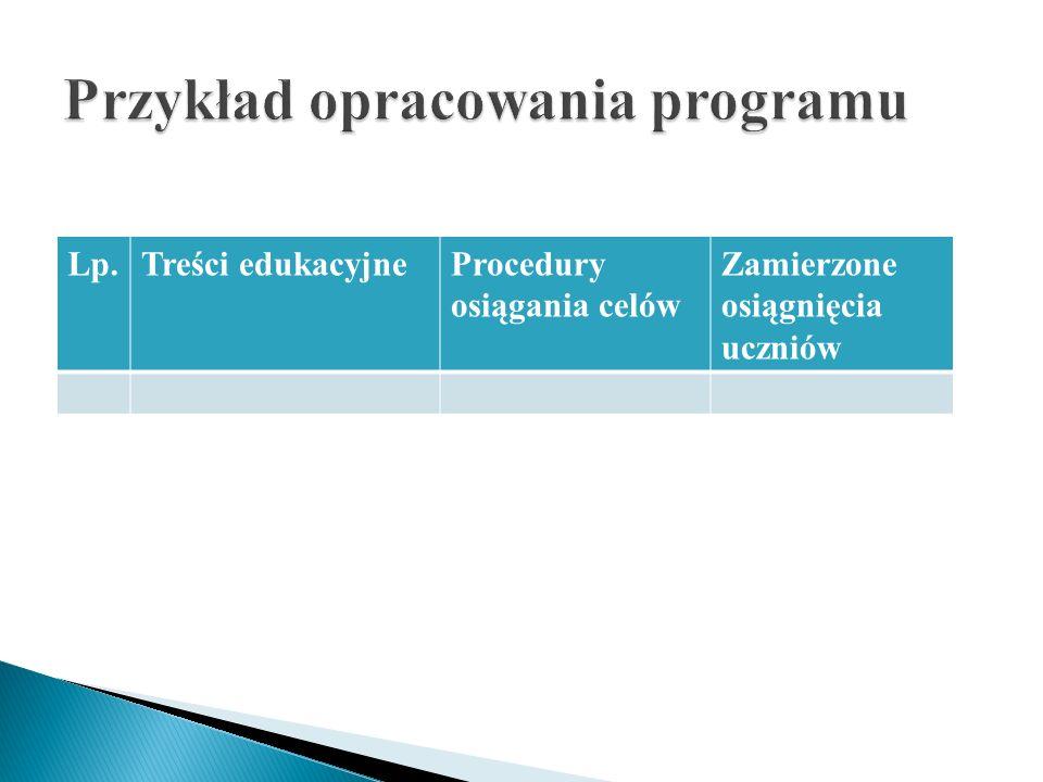 Przykład opracowania programu
