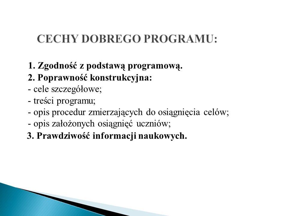 CECHY DOBREGO PROGRAMU: