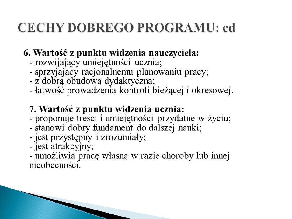 CECHY DOBREGO PROGRAMU: cd