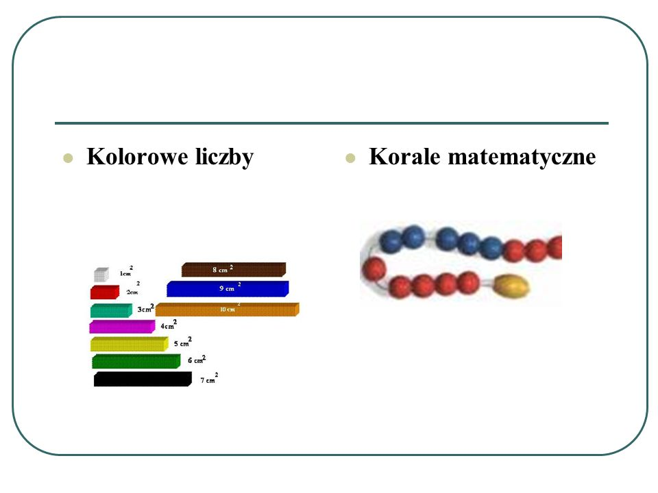 Kolorowe liczby Korale matematyczne