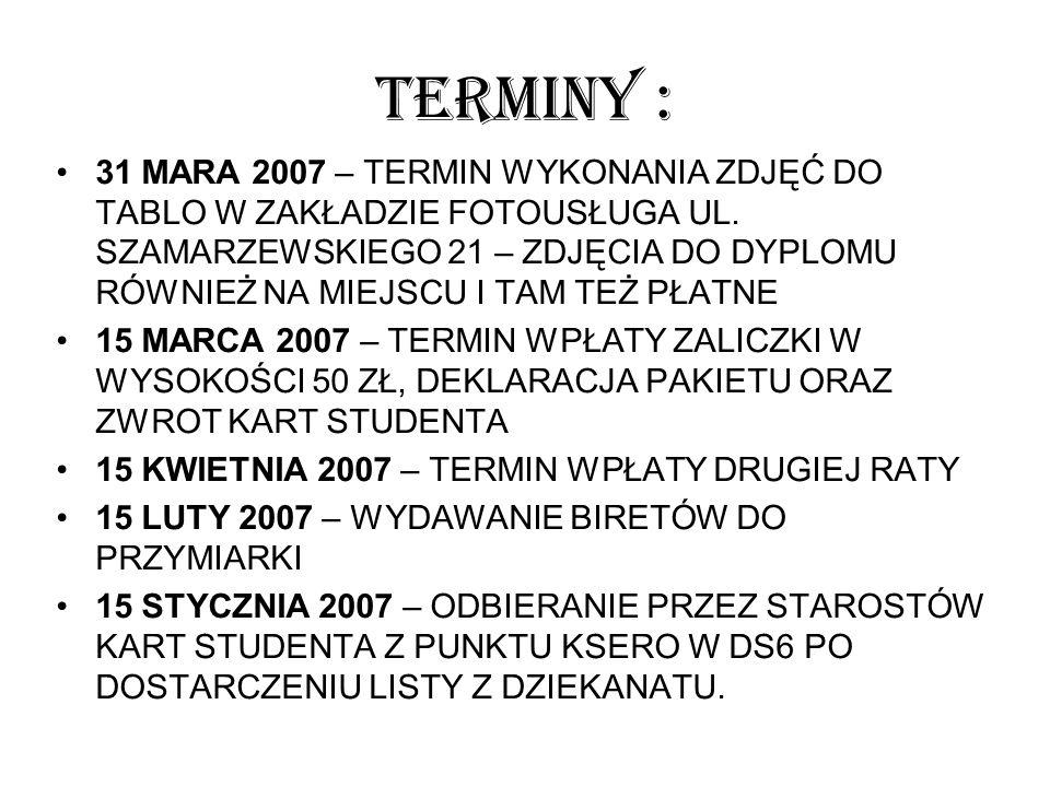TERMINY :