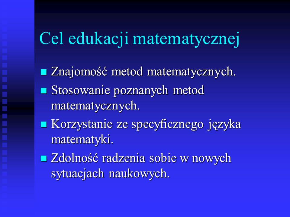 Cel edukacji matematycznej