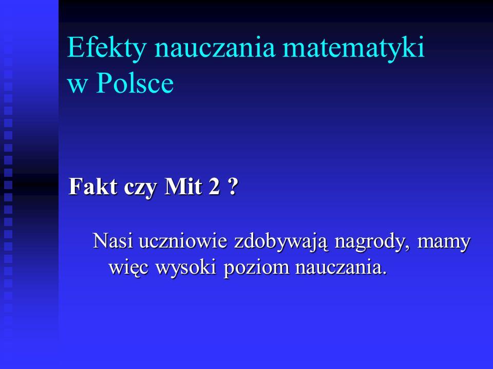 Efekty nauczania matematyki w Polsce