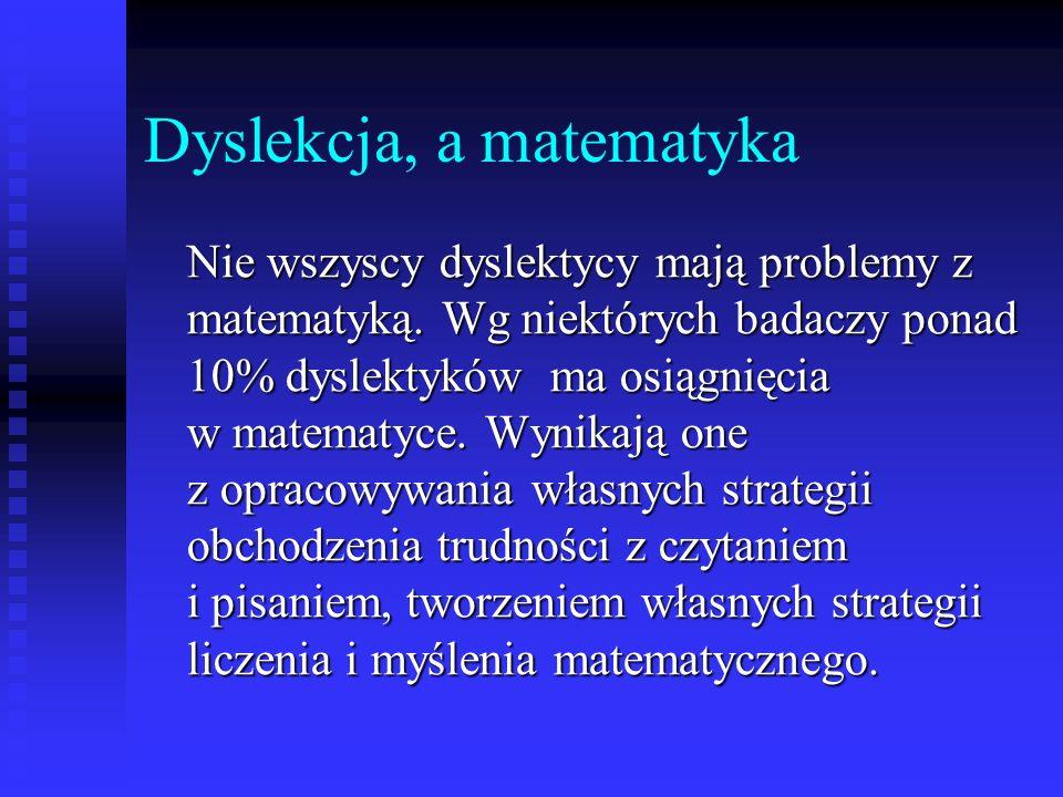 Dyslekcja, a matematyka