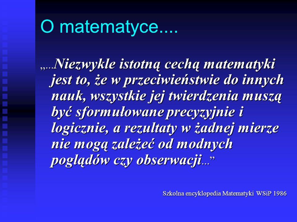 O matematyce....