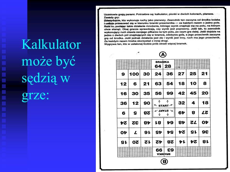 Kalkulator może być sędzią w grze: