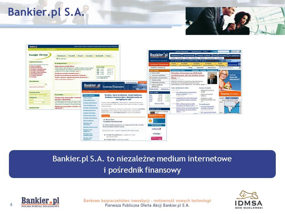 Bankier.pl S.A. to niezależne medium internetowe