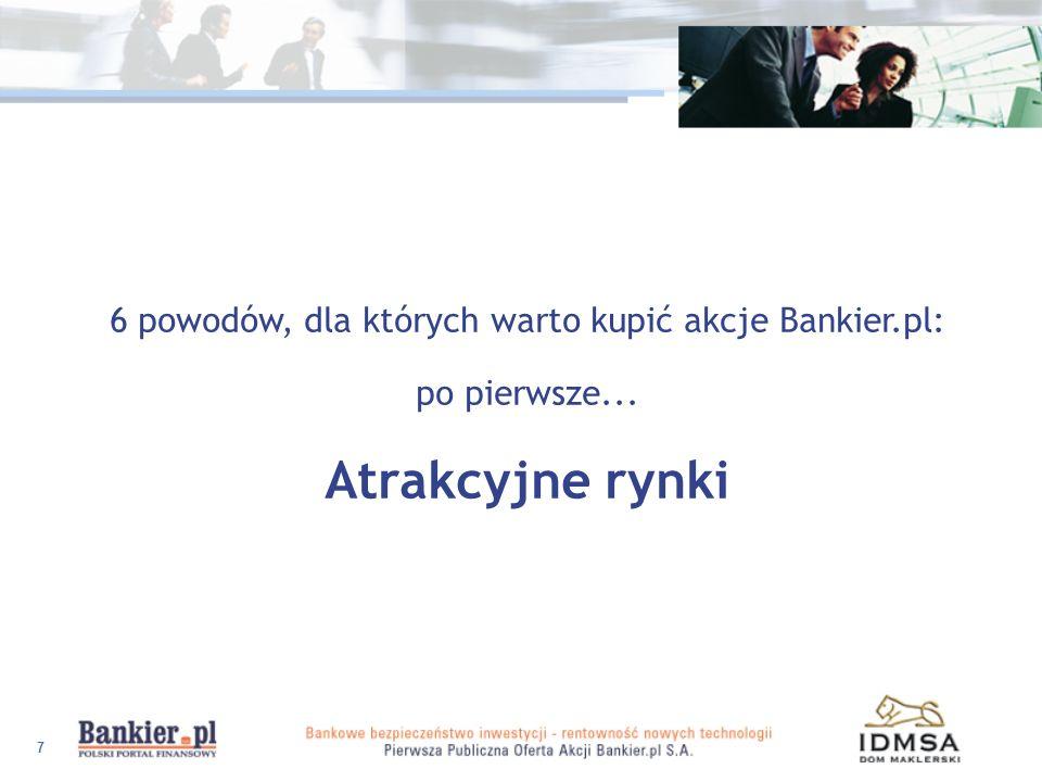6 powodów, dla których warto kupić akcje Bankier.pl: