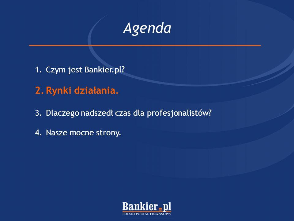 Agenda Rynki działania. Czym jest Bankier.pl