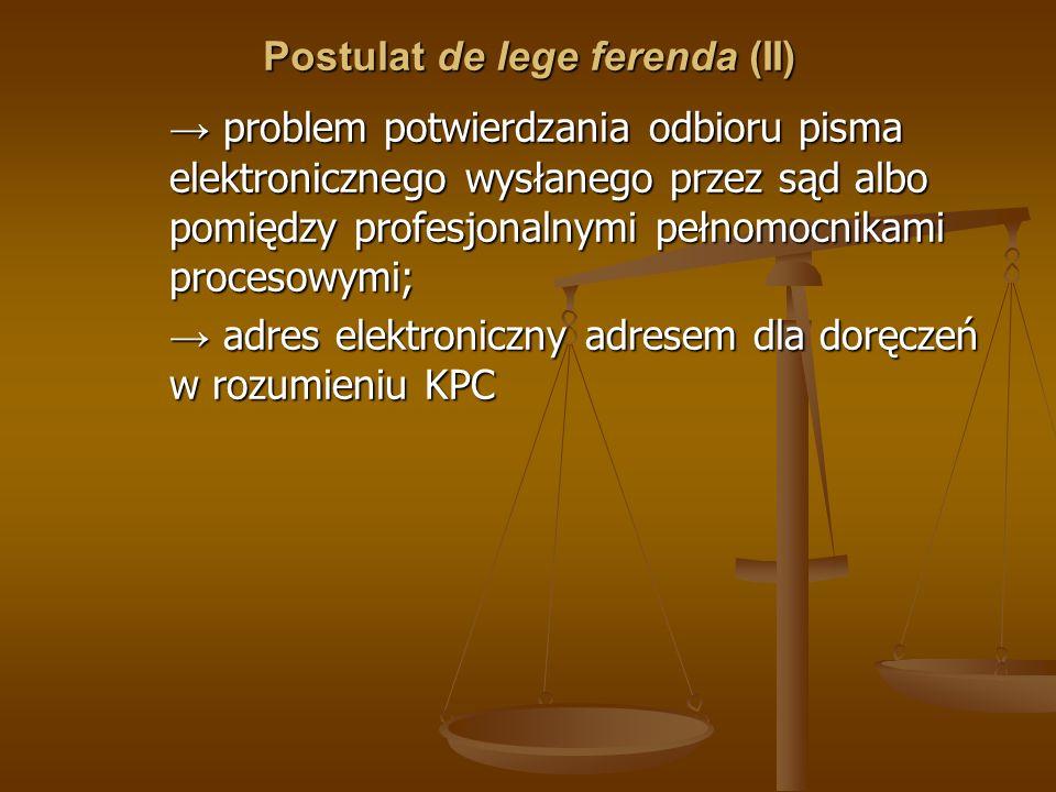 Postulat de lege ferenda (II)